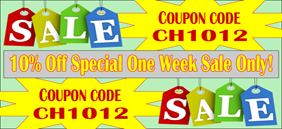10% Off Special One Week Sale